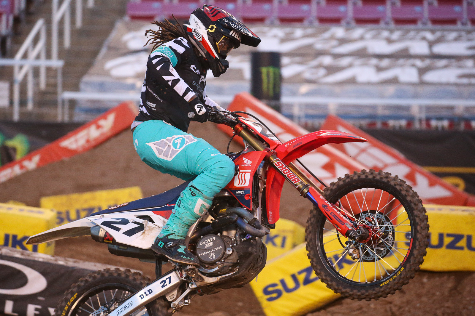 Malcolm Stewart was on fire in his heat race, and with a better start in the main? Who knows? He did jump from 20th to seventh at the finish.