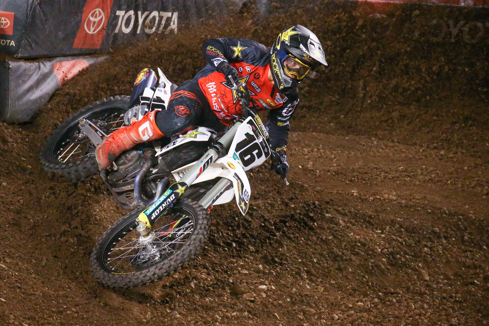 With his strong run and podium finish on Wednesday night, Zach Osborne jumped up two spots in the 450 series standings, to 11th.
