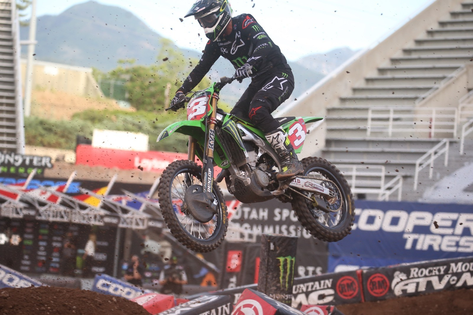 Eli Tomac finished in third place.