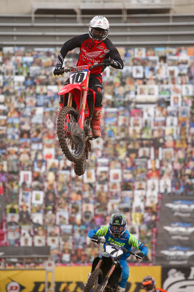 Justin Brayton was in the +5 club for the fifth race in Salt Lake City. He ended up in eighth spot.