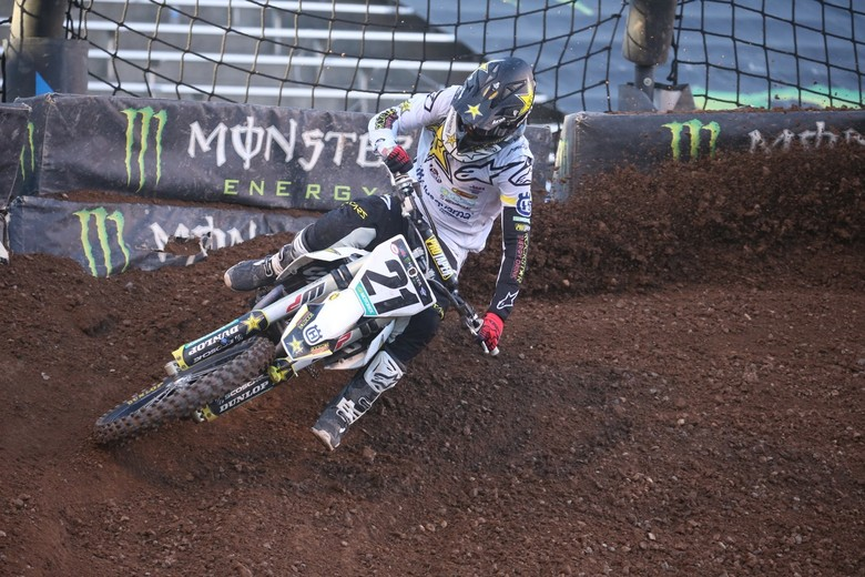 Jason Anderson crossed the finish line in fifth place.