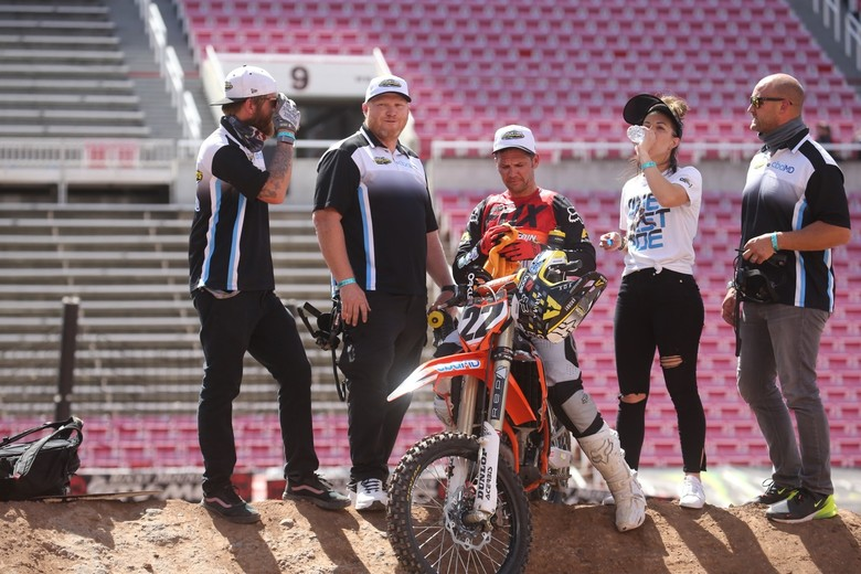 Chad Reed enjoying the moment.
