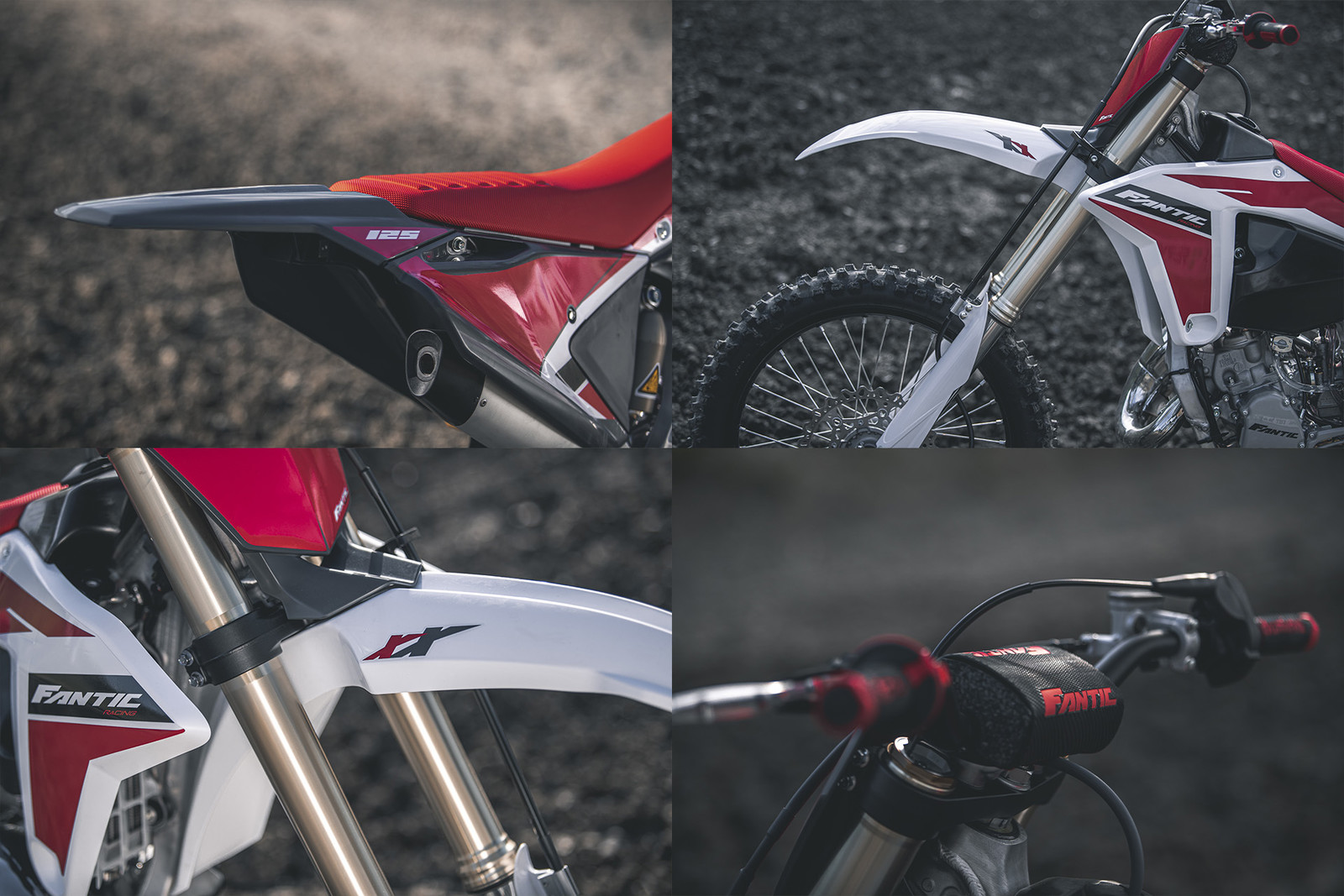 Fantic designed the plastics and seat on the XX 125.