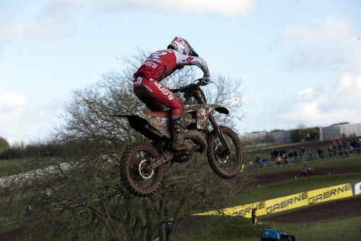 The XX 125 in action at the Matterley Basin MXGP