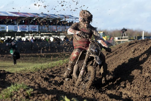 The XX 125 in action at the Matteryley Basin MXGP