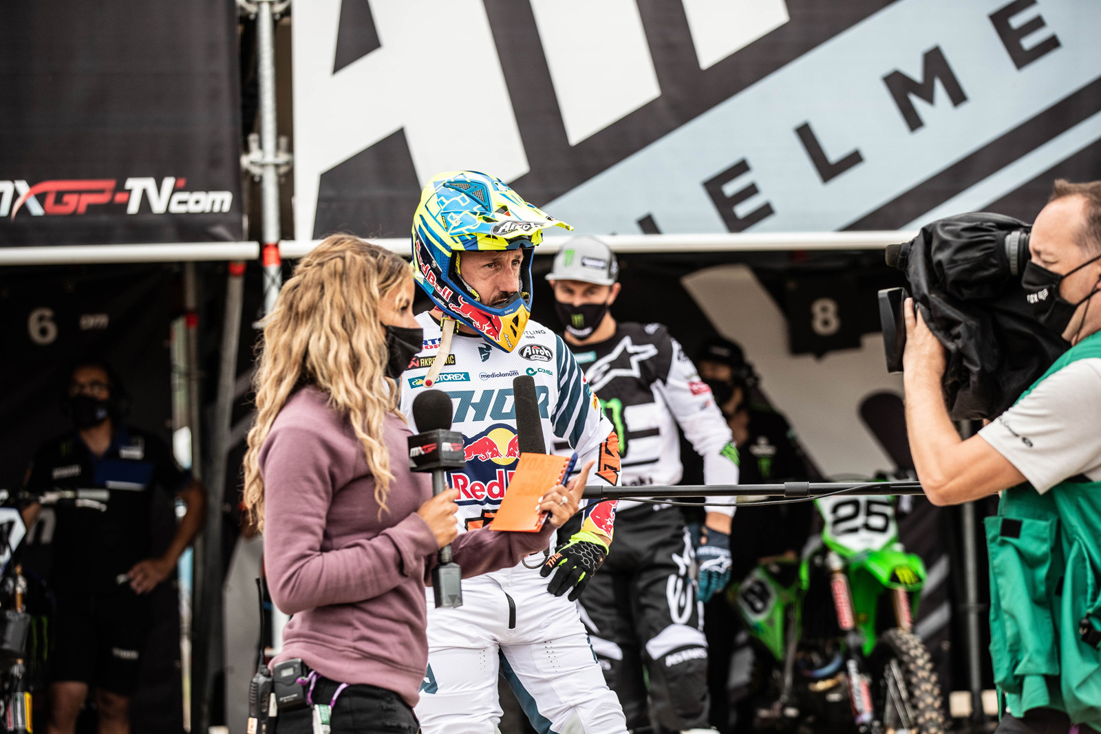 Practicing social distancing with the boom mic, it was super cool for Cairoli to take the overall with 1-4 moto scores.