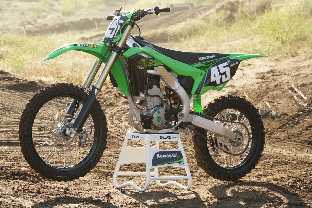 In 2020, we had to kick the KX250 to life.