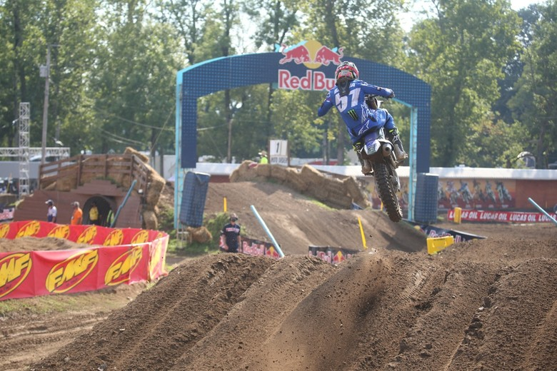 Justin Barcia looked good in the rough conditions today.