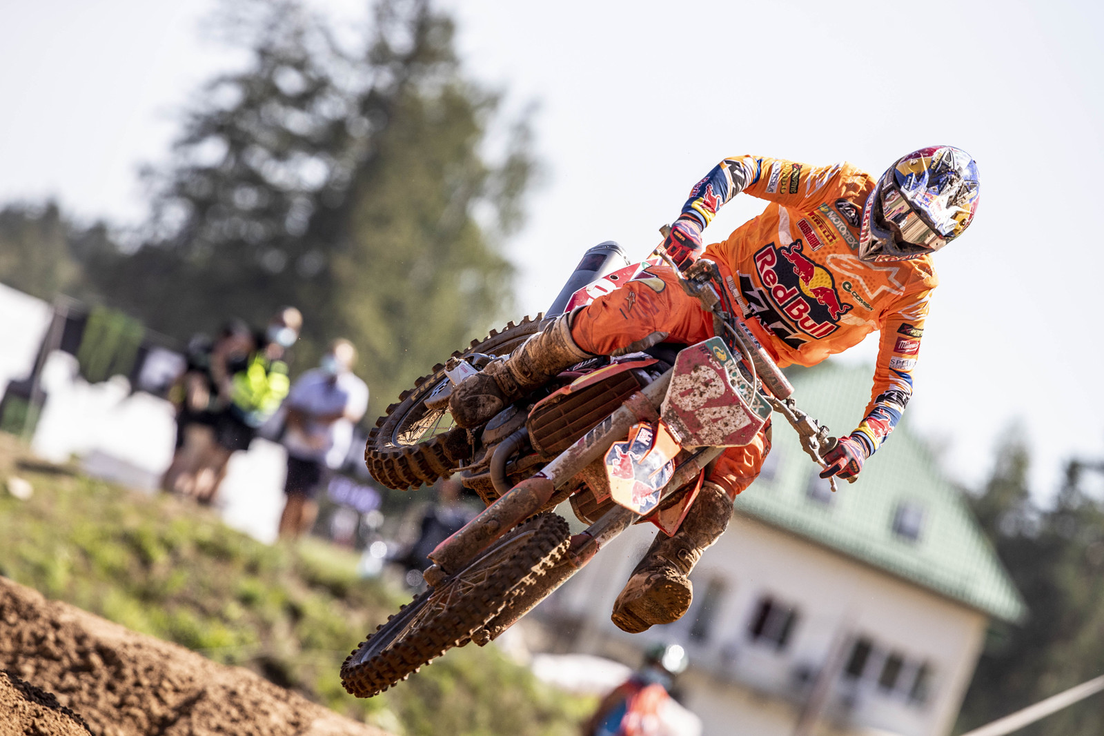 """Jeffrey Herlings: """"The competition gets higher every year and we are all closer to each other, so the starts are key. I struggled a bit in the first moto, with arm-pump also, but it helped to be 4th and then leading the second moto from the second lap meant the overall. Another GP win, so another good day and I want to thank Red Bull KTM because the bike was awesome. I'm happy with the week here in Latvia. I had a few little 'gifts' here and there but it was good for the championship."""""""