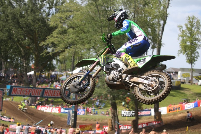 Adam Cianciarulo led for a good bit of the moto.