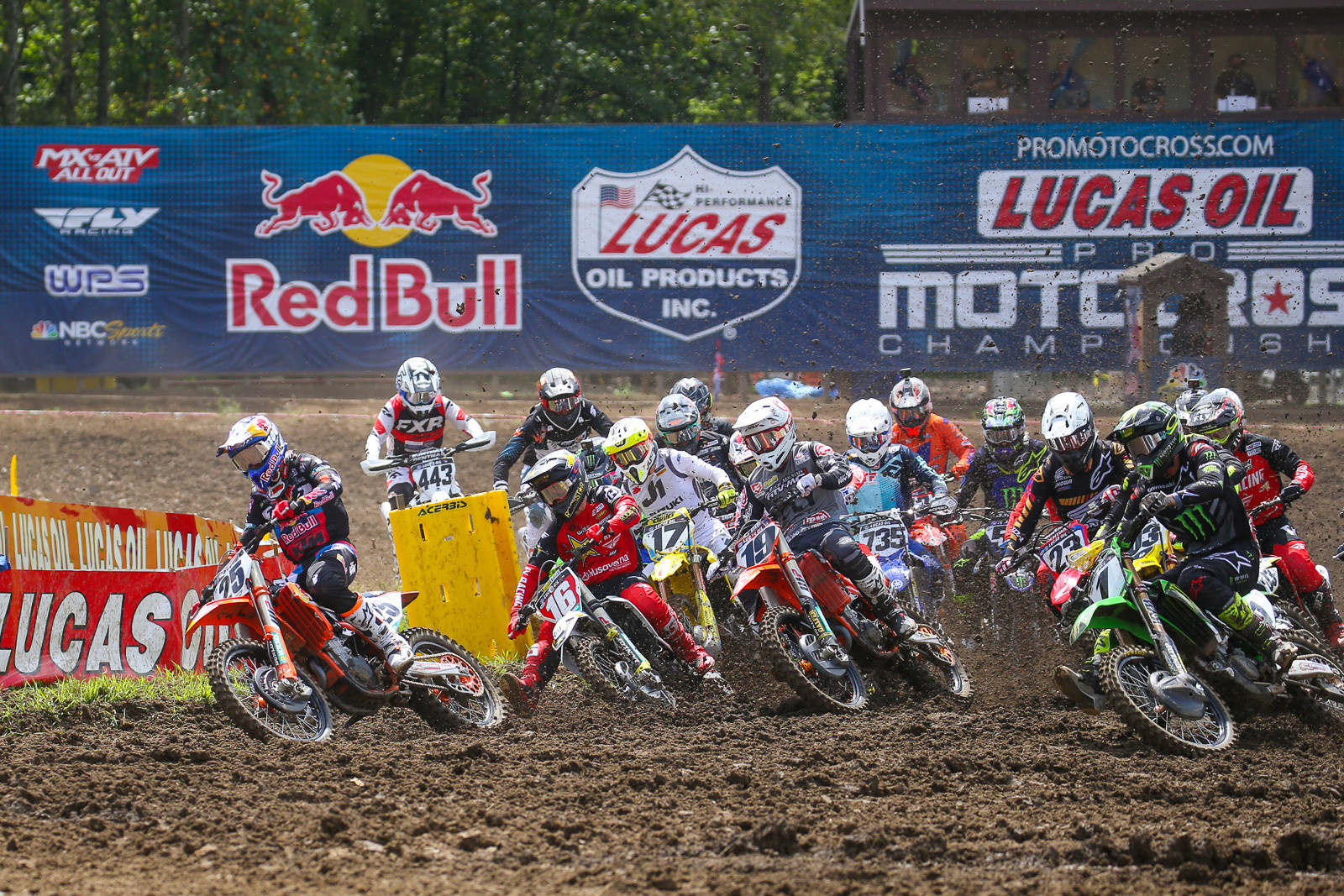 Marvin Musquin grabbed the holeshot in moto one.