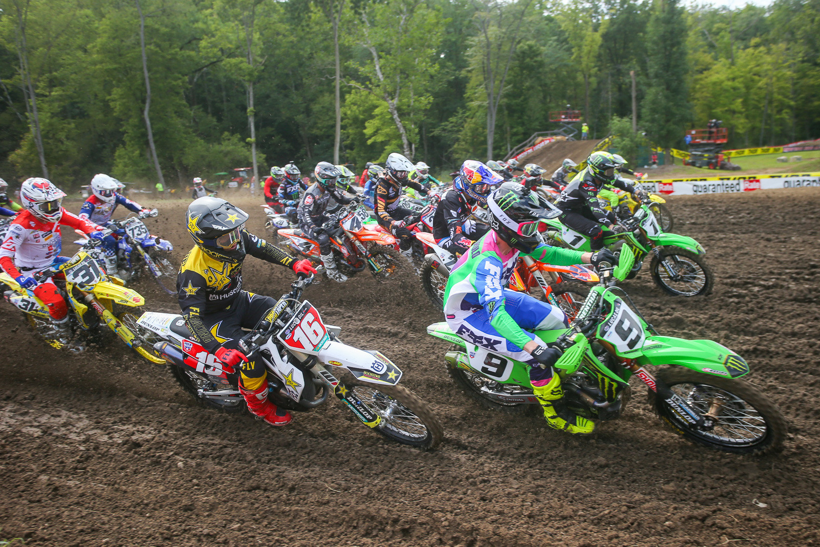 Adam Cianciarulo leads the charge in moto two.