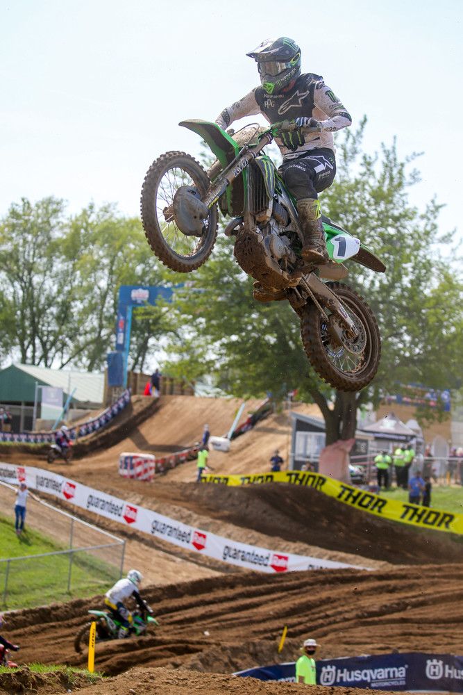 Eli Tomac was the tops of the plus side at RedBud 2, with a +23 tally.