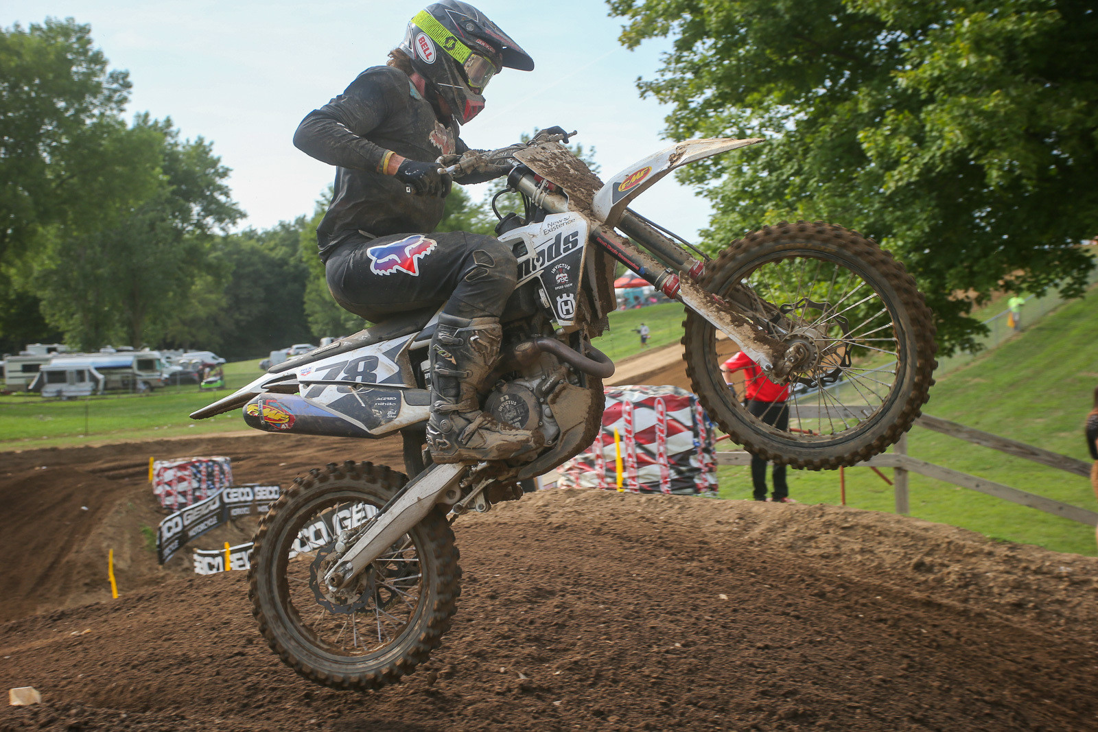 Eli just edged out Jake Masterpool's +22 day. His 14th overall was a lot better than his RedBud 1 tally, where he had a pair of DNFs.