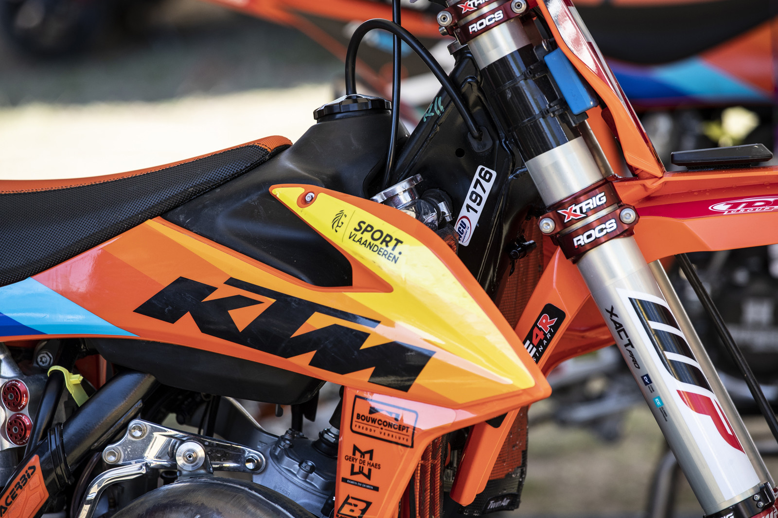 Before we get to the big bikes, let's look at Liam Everts' (Stephen's son) KTM 125 SX.