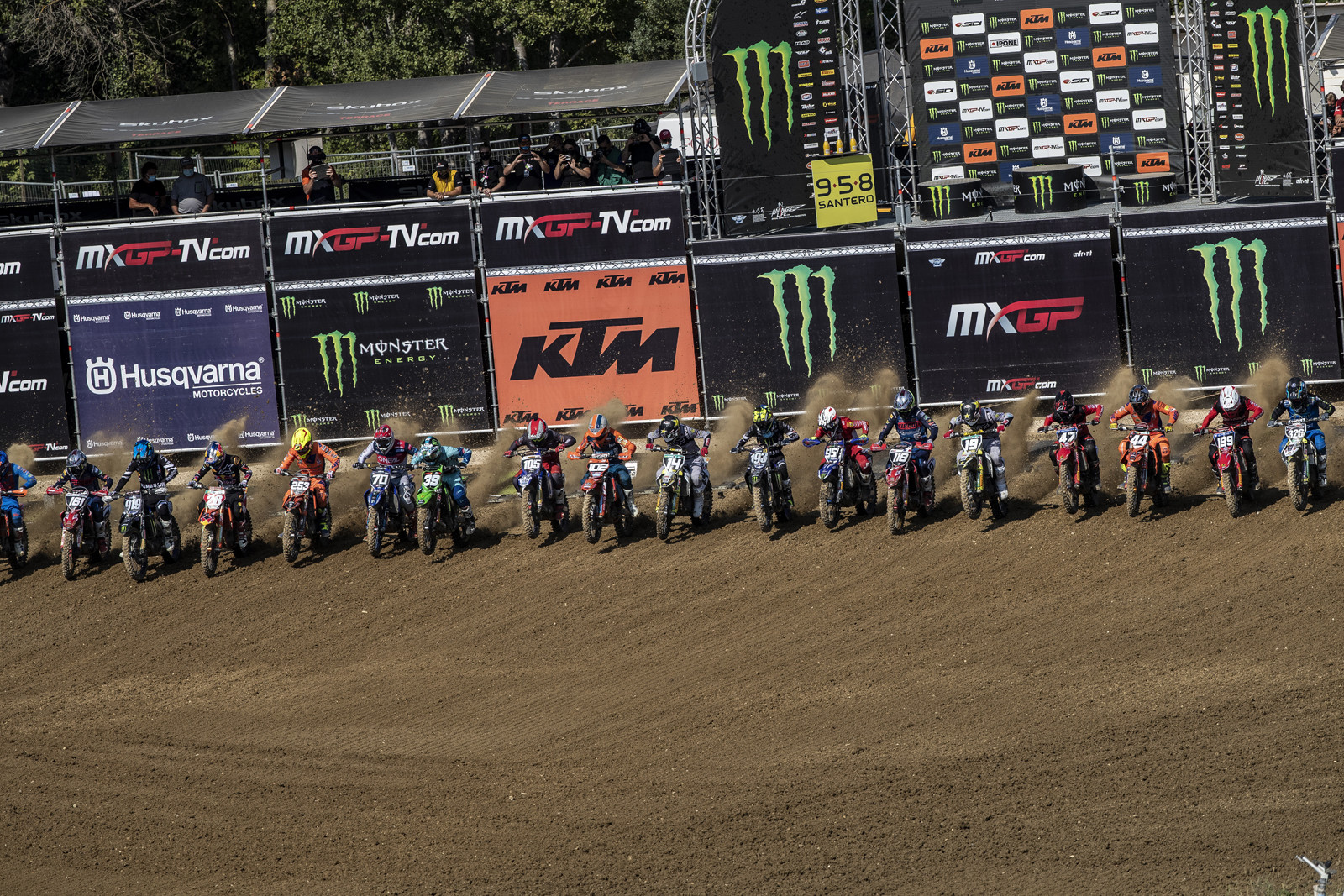 Last set of gate drops for the MXGP's three round visit to the Faenza race track in Italy.
