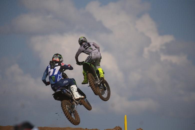 Justin Barcia and Adam Cianciarulo floating.