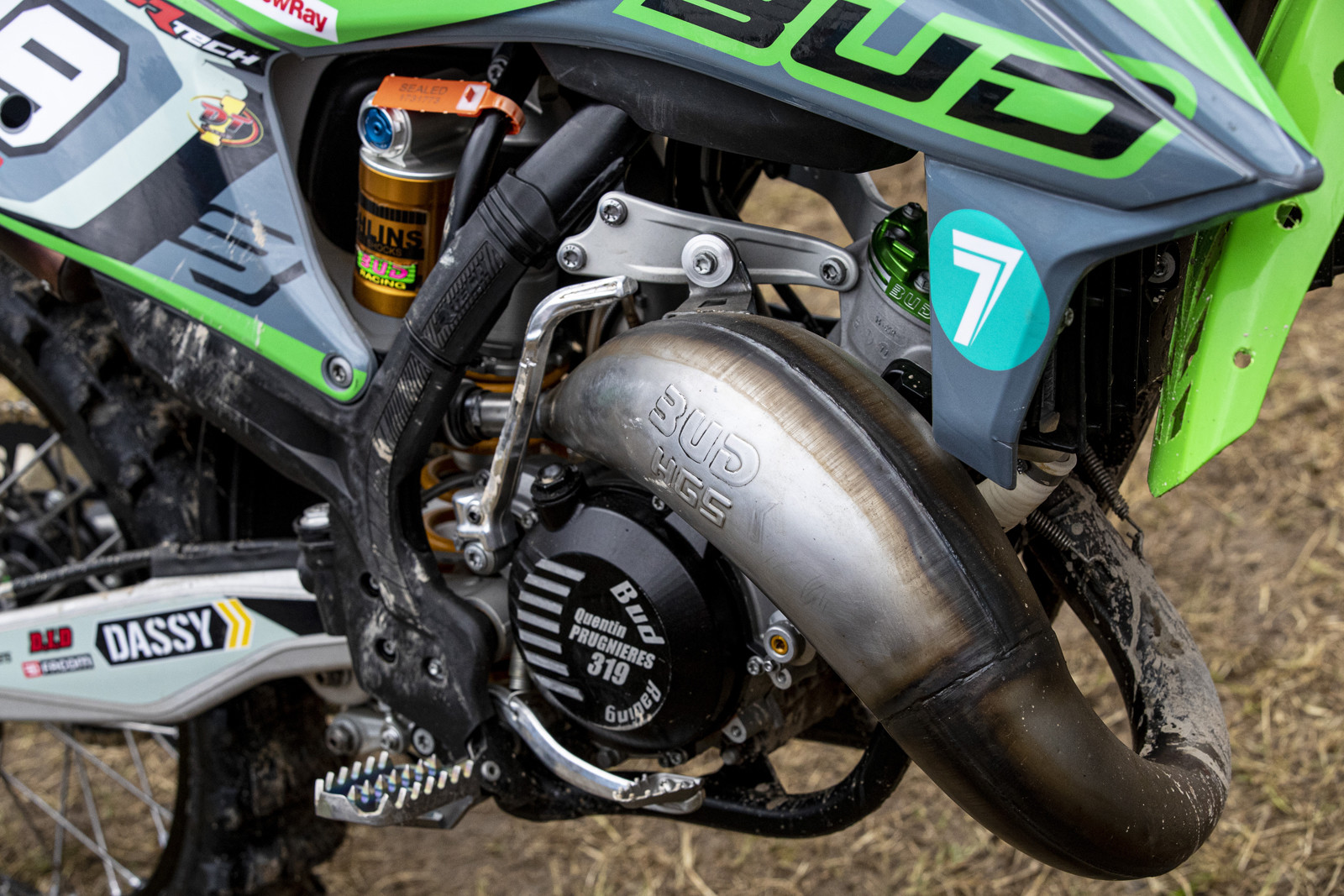 A quick second look shows that this green machine is a KTM 125 SX in disguise.