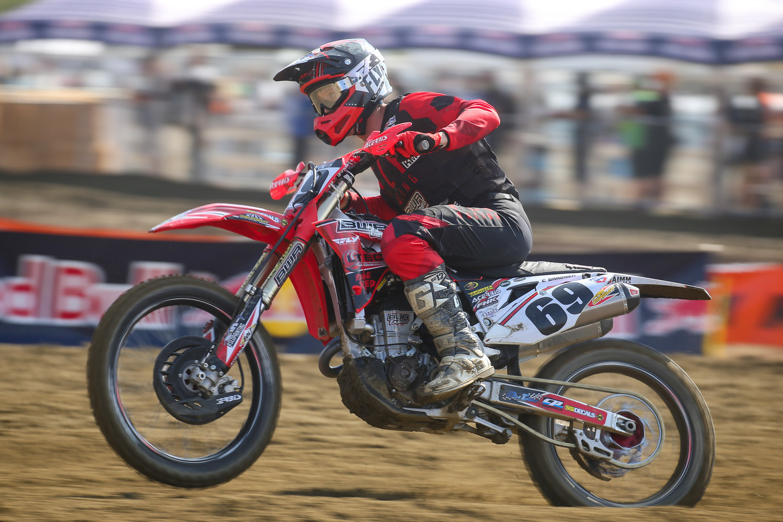 Carlen Gardner only raced the two motos at Fox Raceway, but he showed some good speed, moving up a combined 24 spots over the two motos.