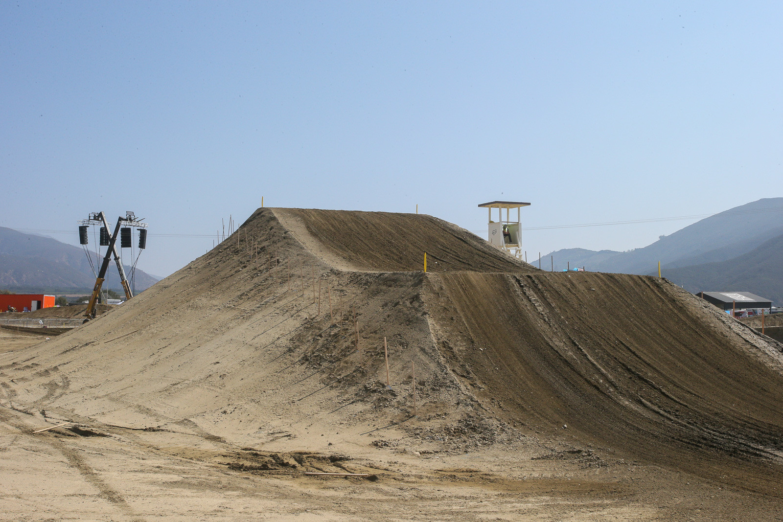 There was some serious dirt moving going on at Fox Raceway before the final National of the season. It's almost hard to show the scale of this step-up.