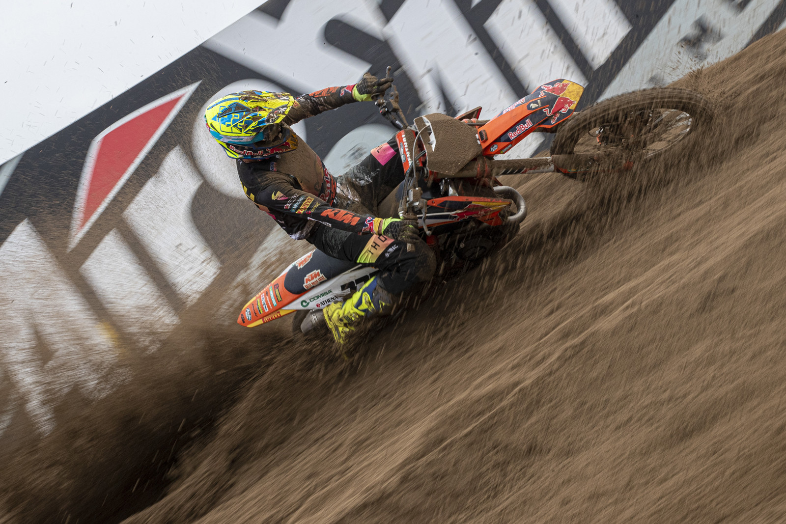 """Tony Cairoli: """"We expected a better result here. We've had some good races in the past, so I'm a bit disappointed. Again, we struggled in the Timed Practice and from my gate-pick I was pushed out in both starts and was outside the top ten. In the first moto I even crashed on the first lap. I came back to 13th but for sure is not what I am capable of on this track. In the second moto I tagged onto the back of [Gautier] Paulin and we had a good rhythm. I finished 6th but we want to be much closer to the podium. We have to see what we can improve for Wednesday."""""""