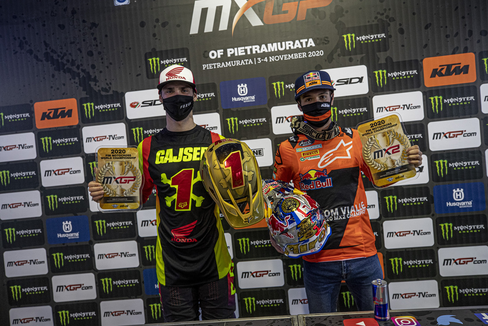 Even though there is one more round, both the MXGP and MX2 championships where wrapped up by Tim Gajser and Tom Vialle respectively.