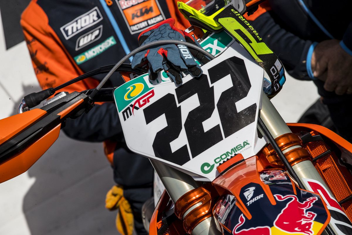 MXGP of Great Britain: Cairoli unveiled a new number font for the 2020 season.