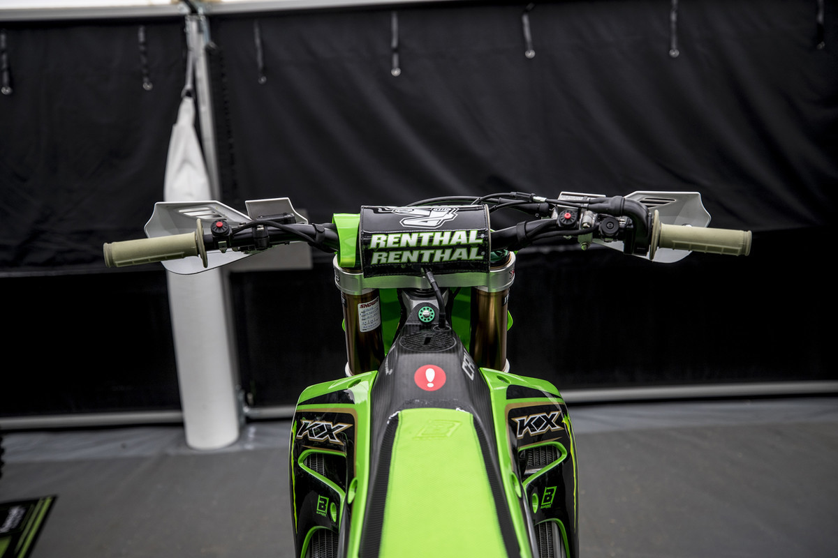 MXGP of Great Britain: The cockpit.