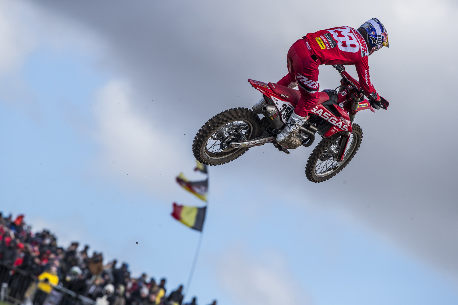 """MXGP of Great Britain: Glenn Coldenhoff was looking good at the beginning of the season. This was also the first look at the """"GASGAS"""" bikes but they literally were just red KTMs at this point."""
