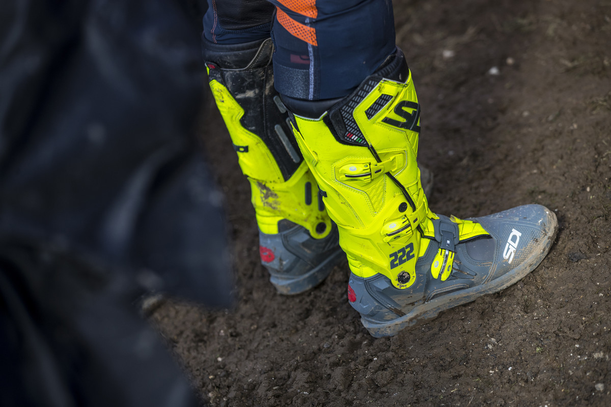 MXGP of Great Britain: At this point in the year, the MXGP guys were the only ones to get their hands on the Sidi ATOJO boots.