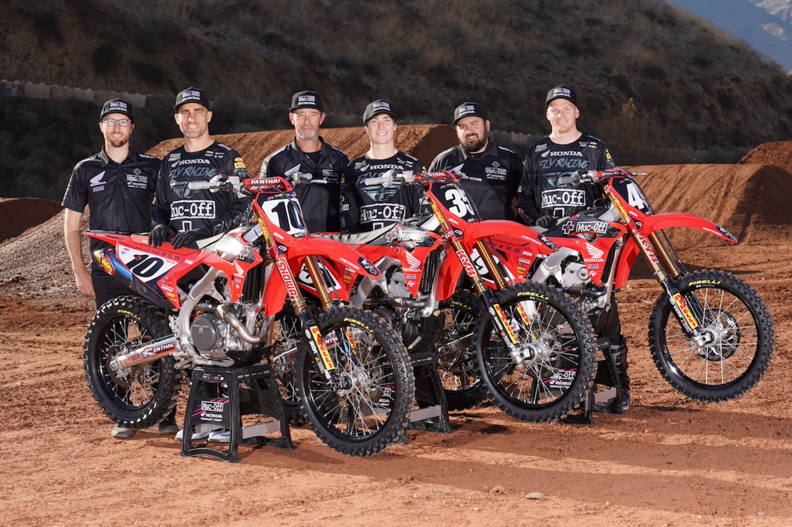 Muc-Off Racing Honda has partnered with Pirelli for the 2021 season and will field riders in both 250SX and 450SX Classes. | Photo: Muc-Off Racing Honda
