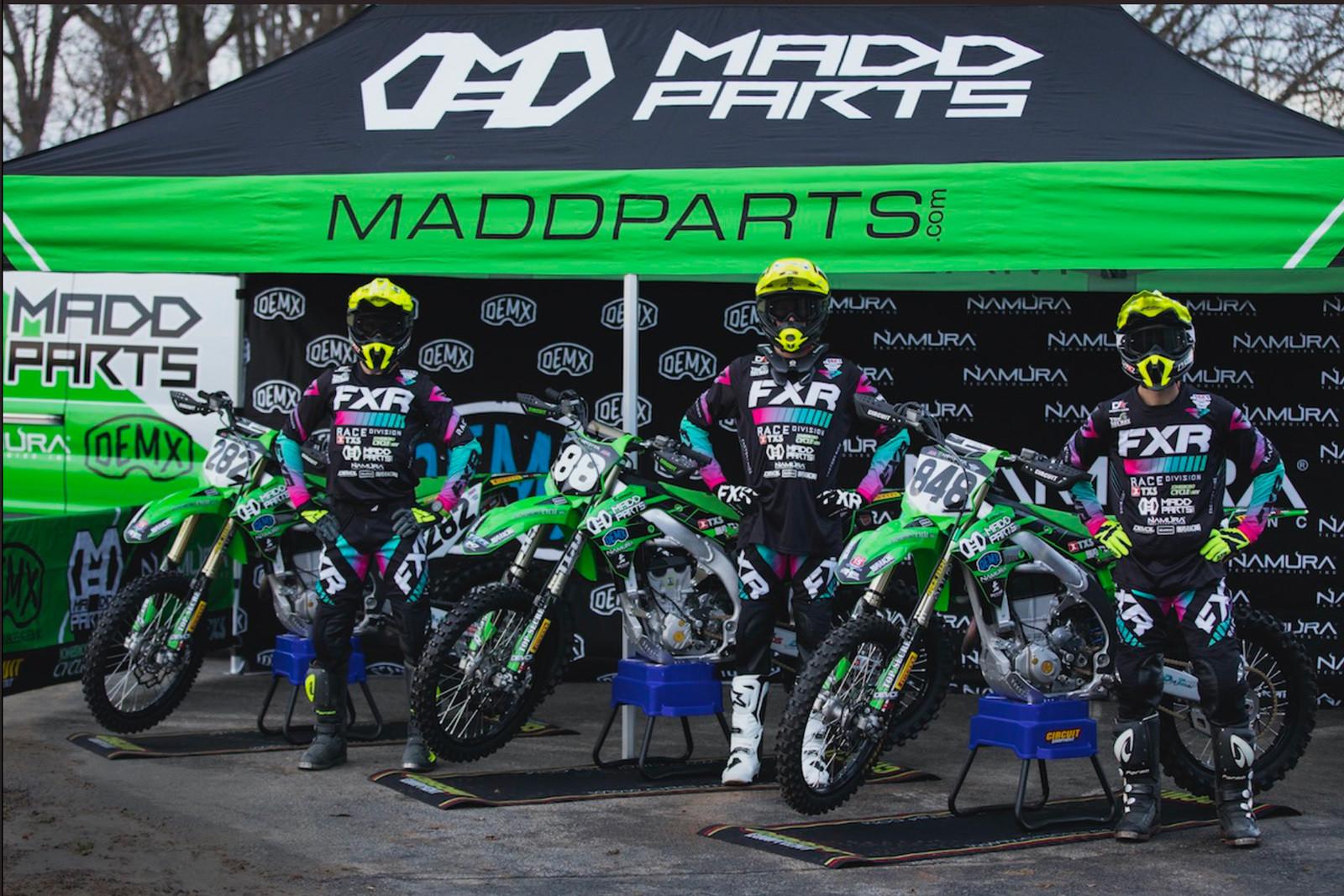 Madd Parts/Double Eagle MX/Namura Technologies Kawasaki will field a three-rider team in 2021.   Photo: Jason Watkins