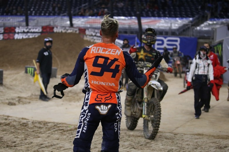 Ken, understandably, was not happy with Dean Wilson after the race.