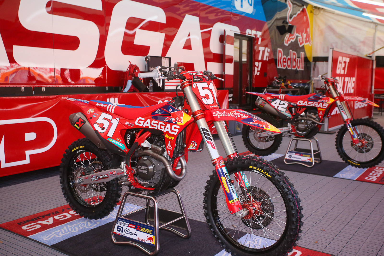 How's that for a sweet-looking bike and team setup? Justin will have the red plate again for round three.