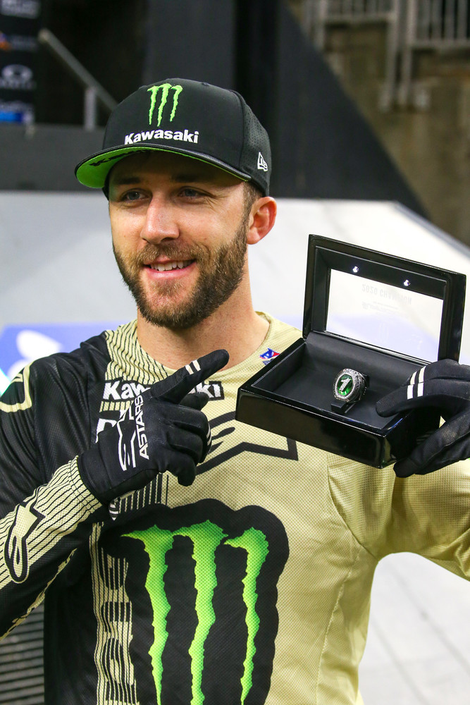 Eli finally scored his championship ring before the gate dropped for the action in Houston 3.