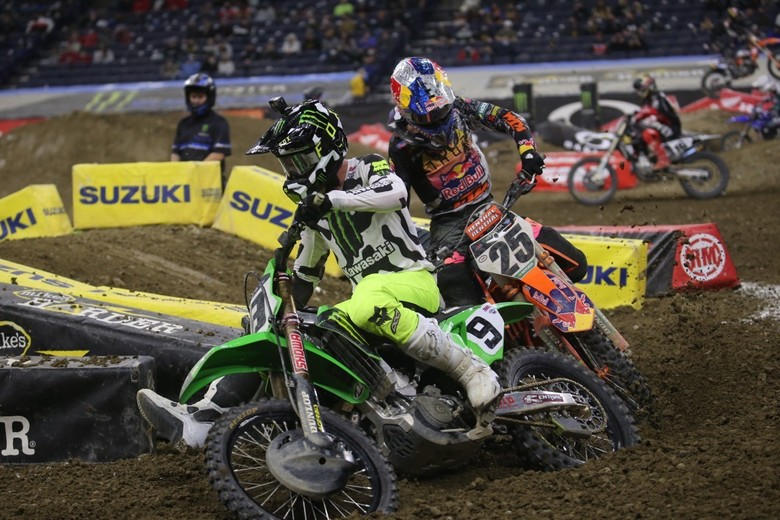 Adam Cianciarulo seemed to be engaged in battles all race long.