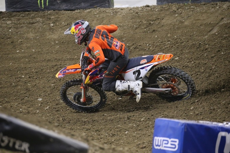 Cooper Webb got close to Ken Roczen towards the end of the race, but he had to settle for second place.