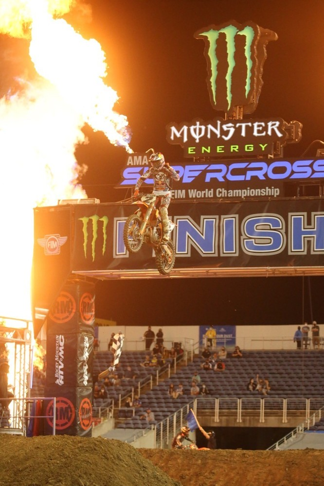 Tally up a win for Cooper Webb.