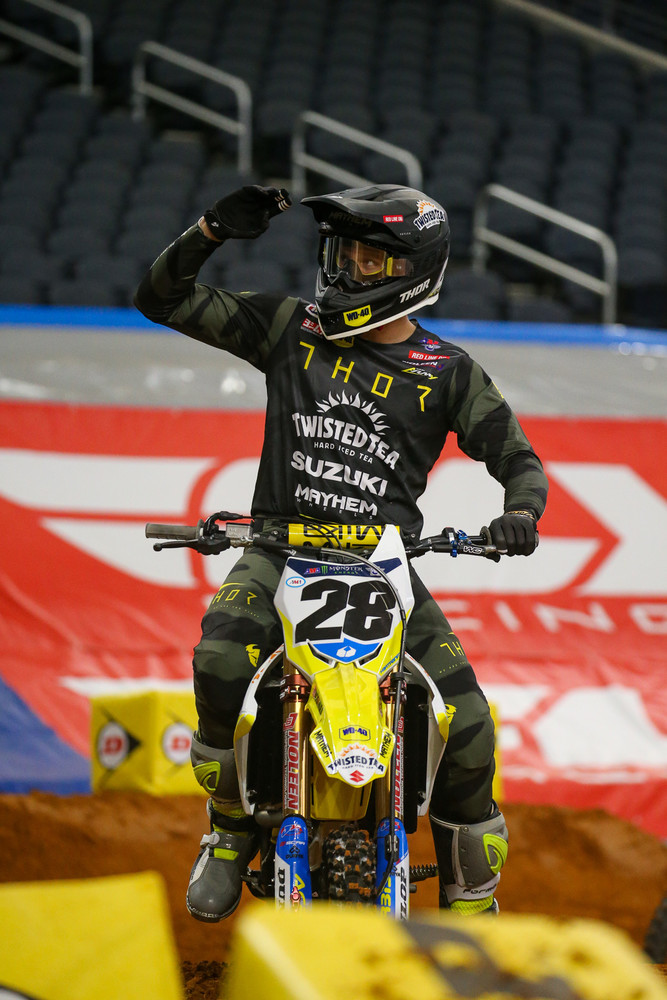It was also cool to see the riders (including Brandon Hartranft here) salute them as they rode by on the first lap.
