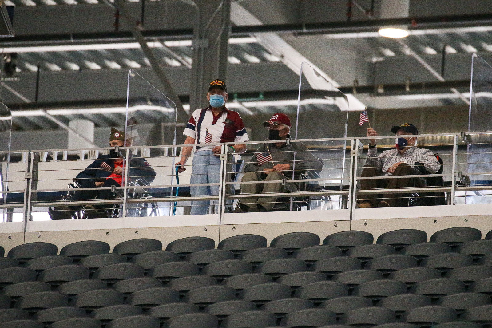 For the second year in a row, the Feld crew welcomed a group of WWII vets who enjoyed watching the action on press day.