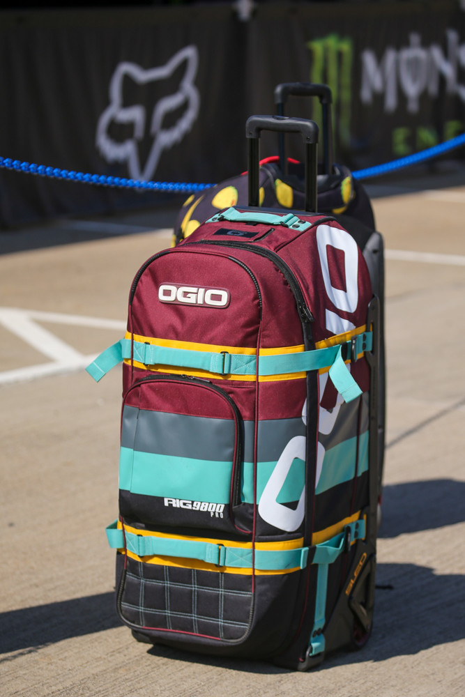 Hmm...we spotted this new Ogio Block Party bag rolling around the pits.