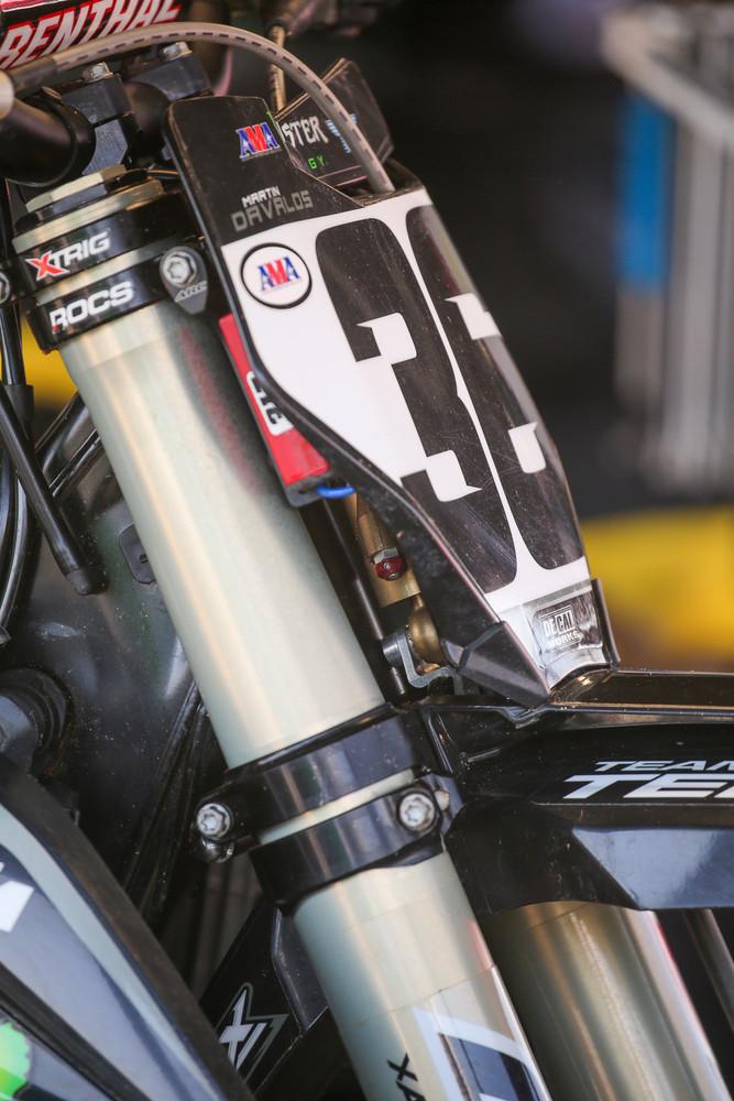 Yep, Martin Davalos likes the steering stabilizer on his KTM.