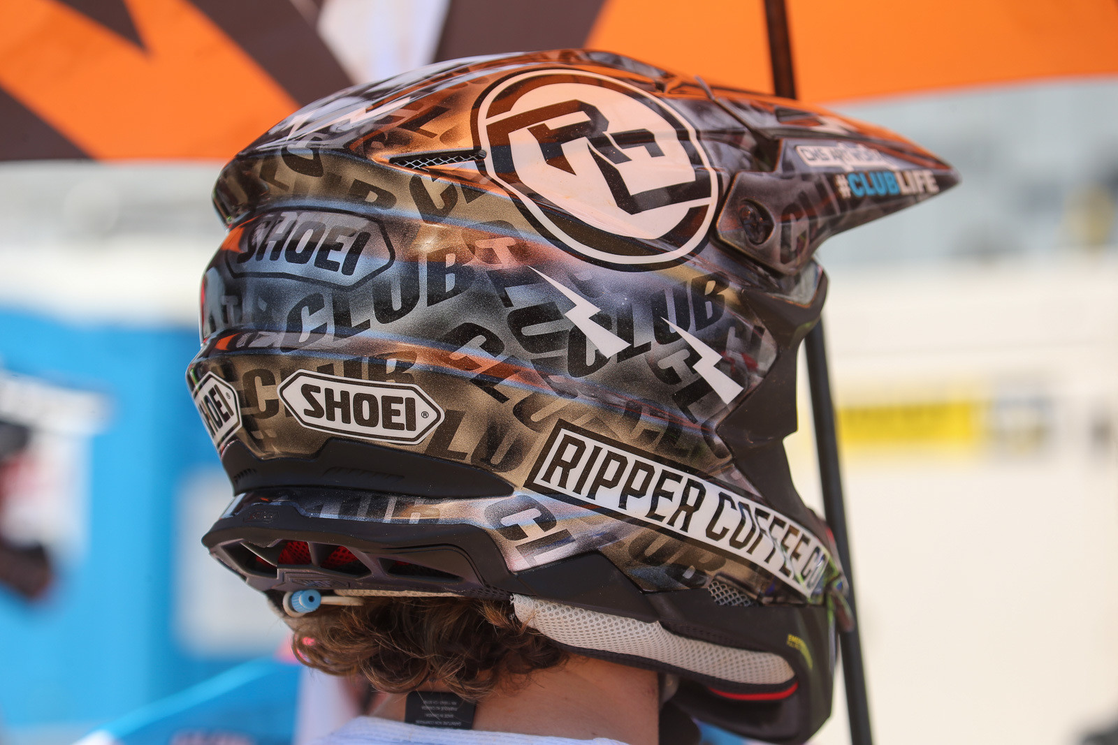 We spotted a few helmets to spotlight this week, including the CMS-ArtWorx paint on the Club MX lids.