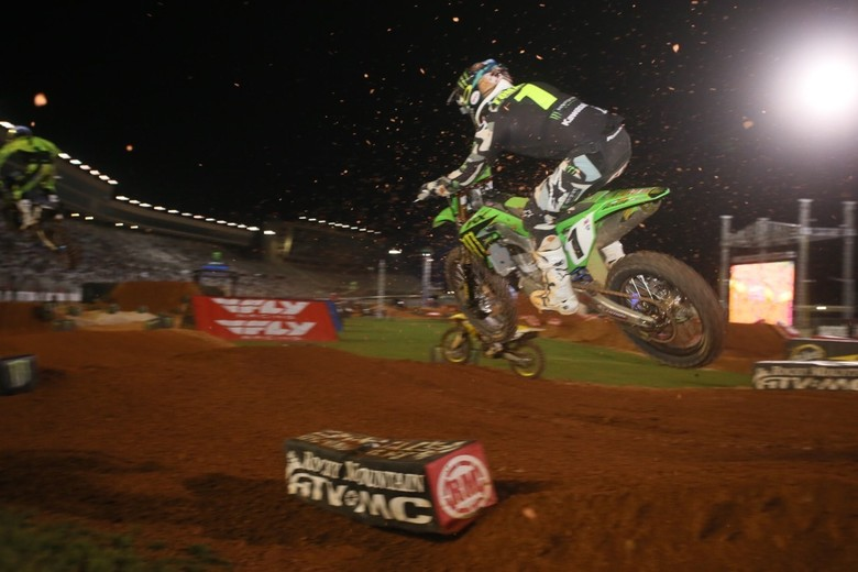 Eli Tomac crossed the line in third place.