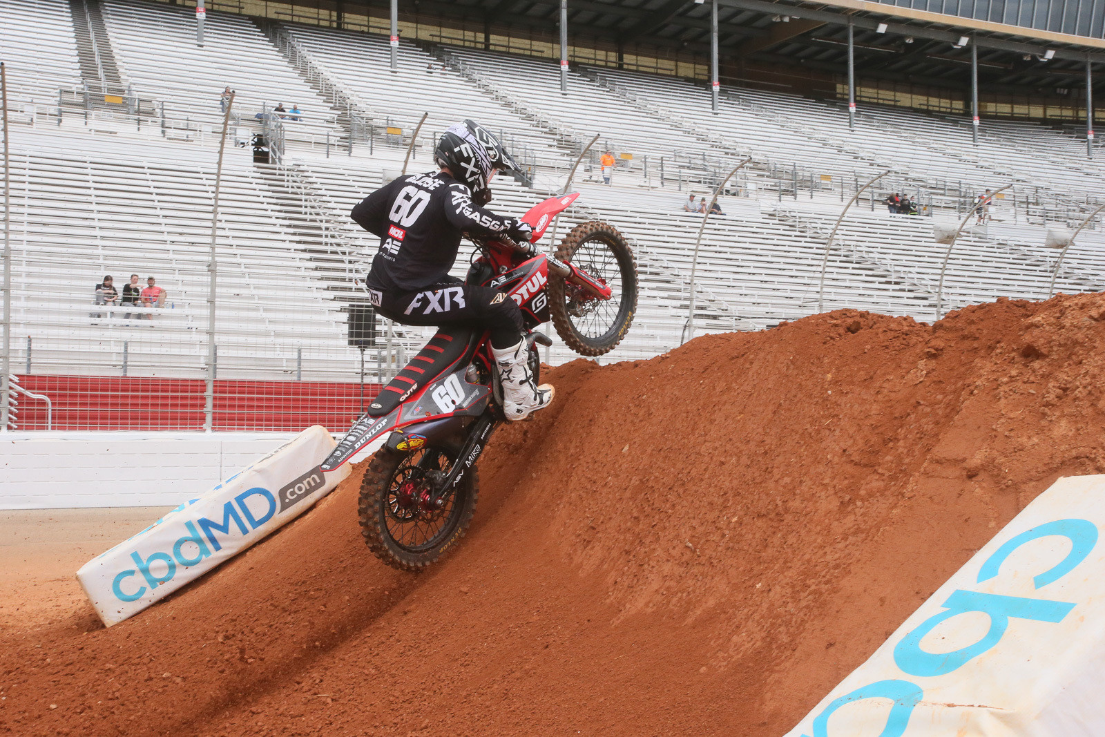 This wall jump was no joke. Get well soon, Chris Blose.
