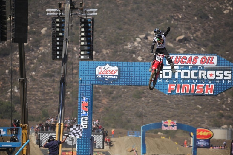 Ken Roczen proved that he can still do some damage outdoors today.