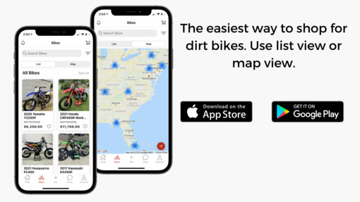 The all new MX Locker allows users to search for bikes in their local area. It is the easiest way to buy and sell dirt bikes.
