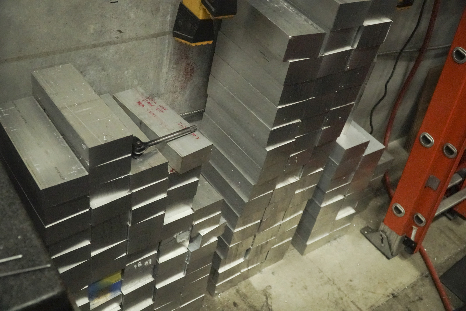 All the clamps star off as these big hunks of aluminum.