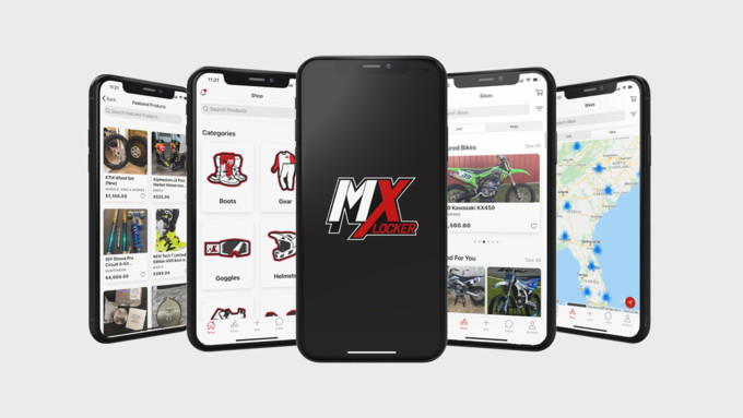 MX Locker's new app, which allows users from around the world to buy and sell riding gear, bike parts and dirt bikes. It is available for download in both the Apple and Google Play Store.