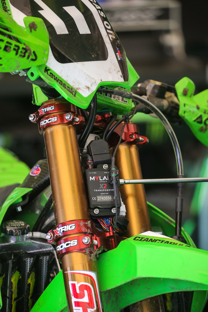 Time for a different ECU on Adam Cianciarulo's Monster Energy Kawasaki.